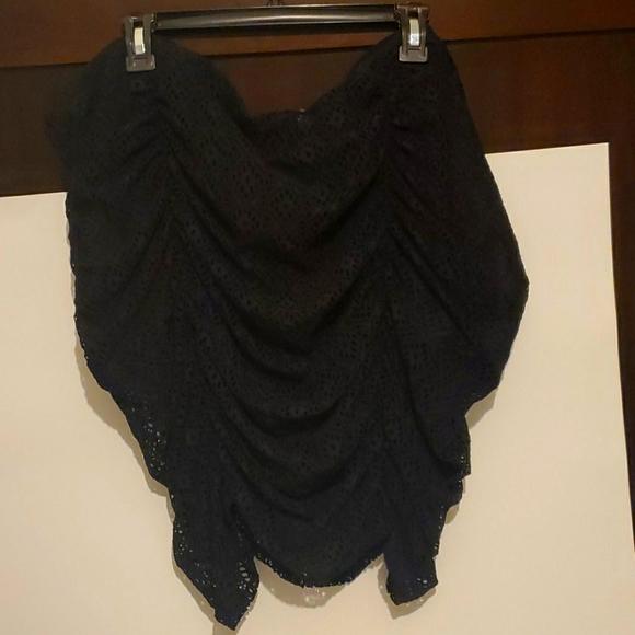 Black swimsuit skirt